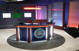 TV News Anchor Desk