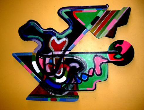 Harvey Wilson, shaped painting, art fabrication